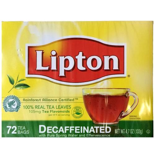 Lipton Decaf Black Tea, 72 Tea Bags, Rainforest Alliance Certified | Lipton®