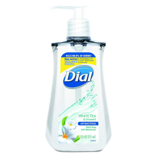 Dial Antibacterial White Tea w/Vitamin E  Liquid Hand Soap 7.5oz