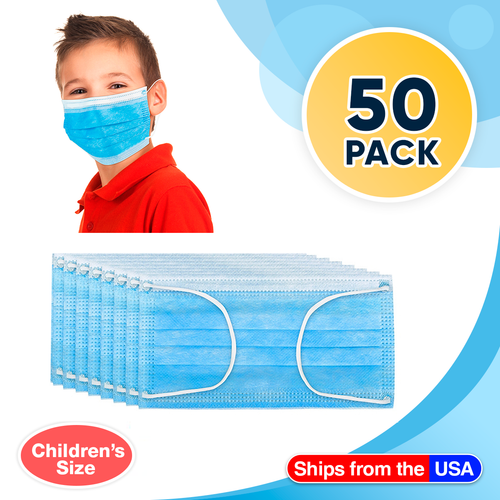 Kids Disposable Face Mask 50ct 3-13 Years Old