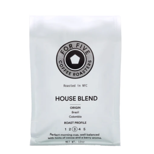 For Five House Blend Ground Coffee 9oz bag