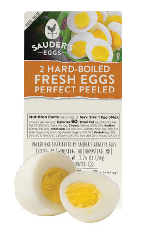 Sauder's Hard Boiled Eggs - 2 Pack 10/cs