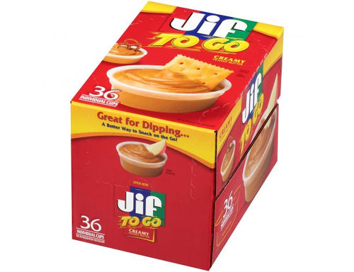 Jif To Go Creamy Peanut Butter Cups 36/1.5oz Cups