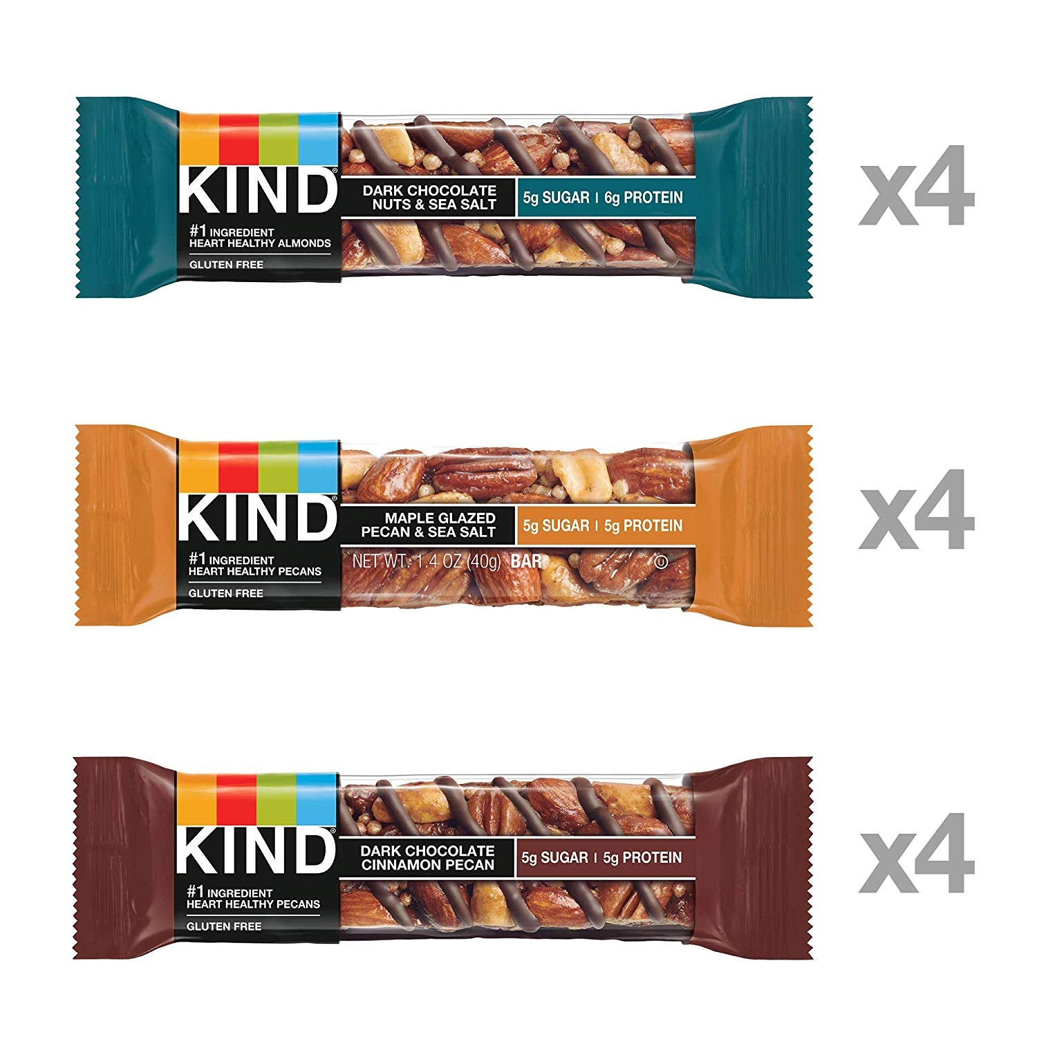 KIND Bar Nut & Spices Variety Pack - 12/Box