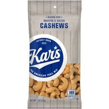 Kars Salted Cashews 1oz Bags