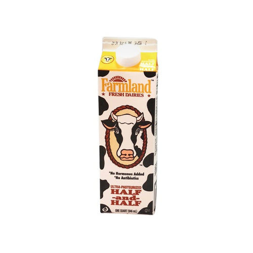Farmland Dairies Half & Half Quarts Fresh
