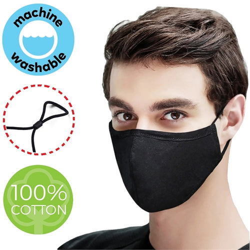 4 Layer Heavy Duty Cotton Face Mask w/ Adjustable Ear Loop - 5 Pack!