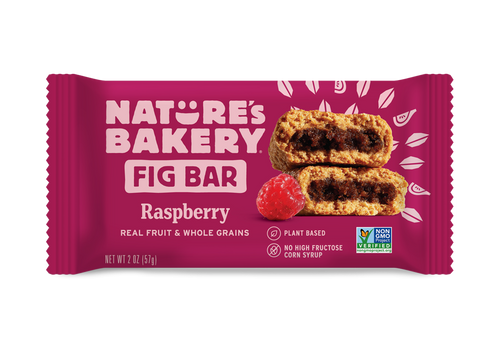 Natures's Bakery Whole Wheat Fig Bars - Raspberry - 12/box