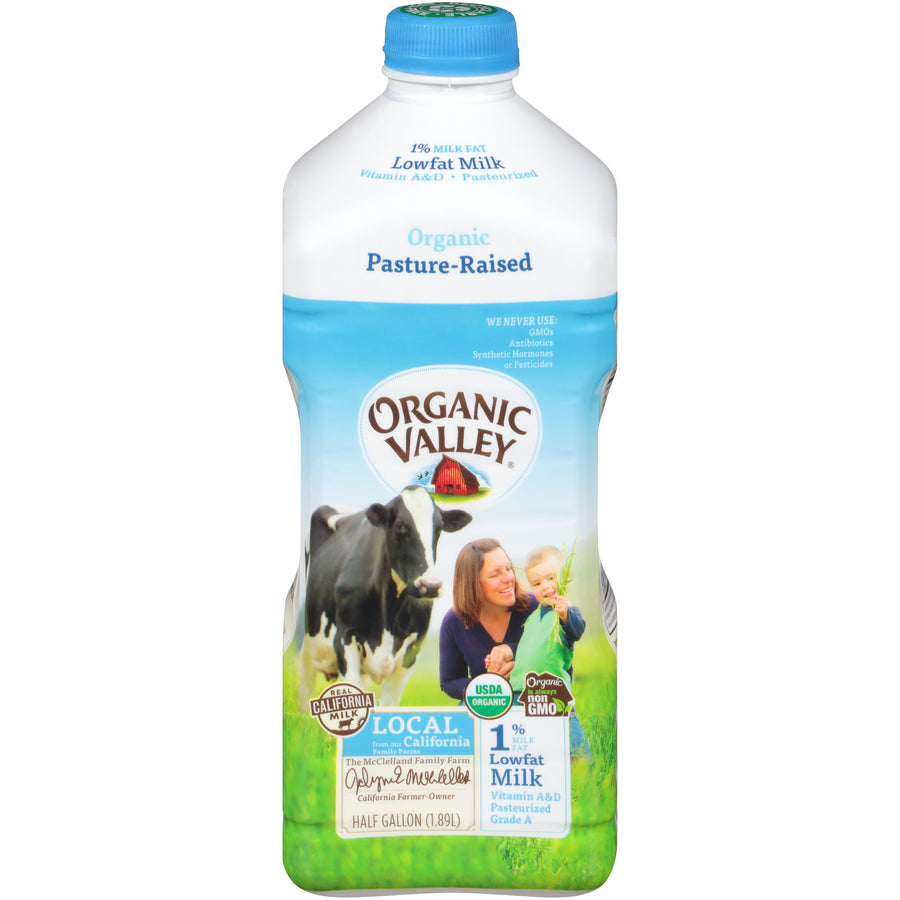 Organic  1% Milk 1/2 Gallon (Brand Varies)