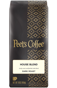 Peet's House Blend Whole Bean 1lb Bag