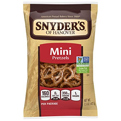Snyder's Mini Pretzels 60-1oz bags per case