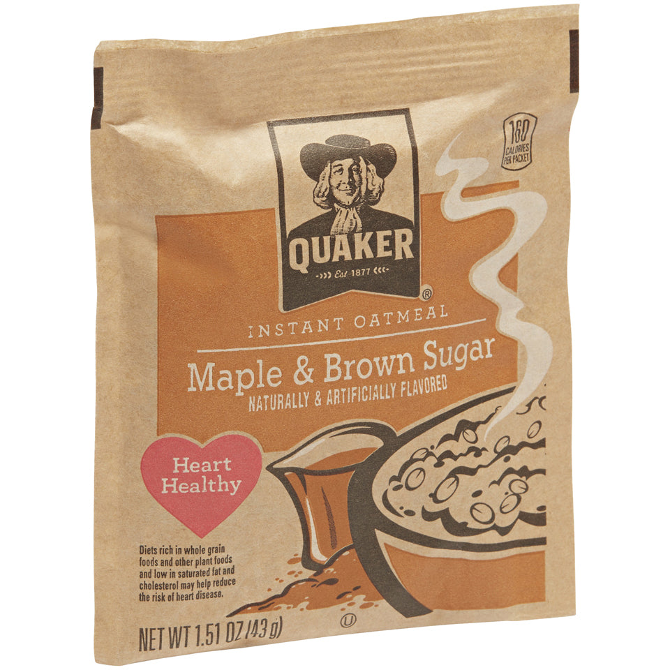 Quaker Oatmeal Maple & Brown Sugar 48/1oz Packets