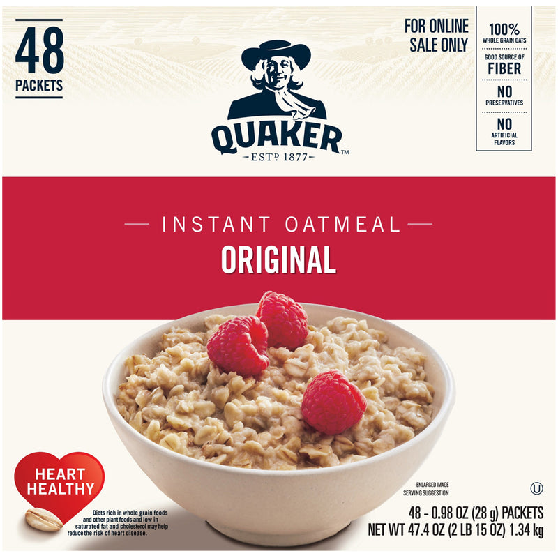 Quaker Oatmeal Regular 48-1oz bags per case