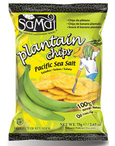Samai Plantain Chips 15/2.65oz bags per case