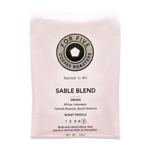For Five Sable Blend Ground Coffee 9oz bag
