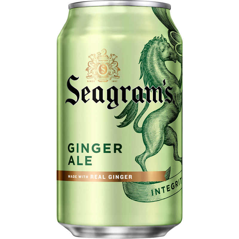 Seagram's Ginger Ale 24-12oz cans per case