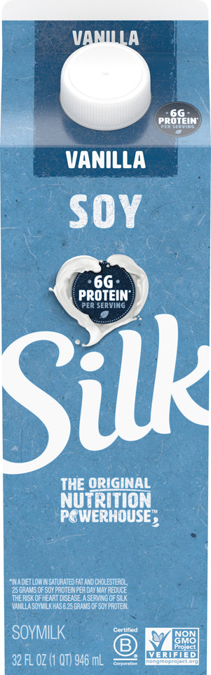 Silk Vanilla Soy Milk Quart Fresh - 32oz