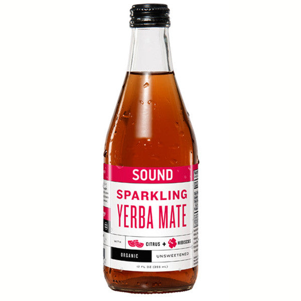 Sound Sparkling Yerba Mate 12-12oz bottles per case