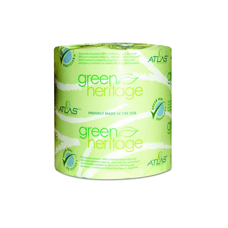 Green Heritage 276 2-Ply Bathroom Toilet Tissue,   500 per Roll