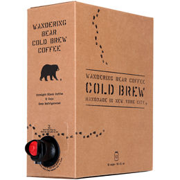 Wandering Bear Straight Black Cold Brew Coffee 96oz Fridge Box