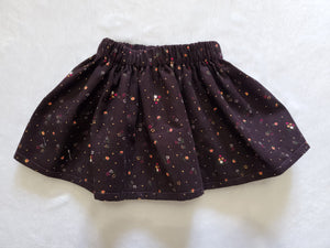 Baby cord tiny floral skirt rts
