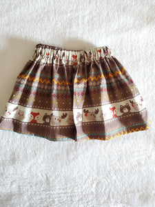 Woodland creatures skirt