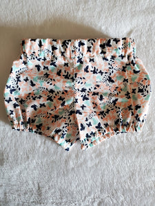peach and mint butterfly shorts 2T