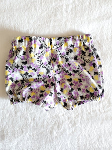 Purple and yellow butterfly shorts 18-24M