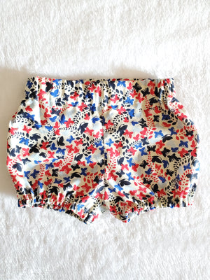 Red and blue butterfly bubble shorts 6-12M