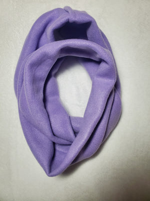 Purple fleece infinity scarf
