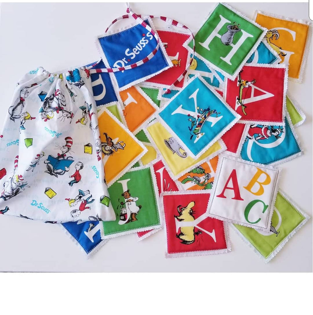 Dr.Seuss Fabric Alphabet letter and storage bag