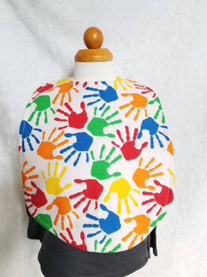 "Hand Autism awarness ""Big"" bib"