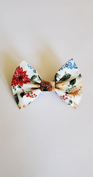 Fall floral bow