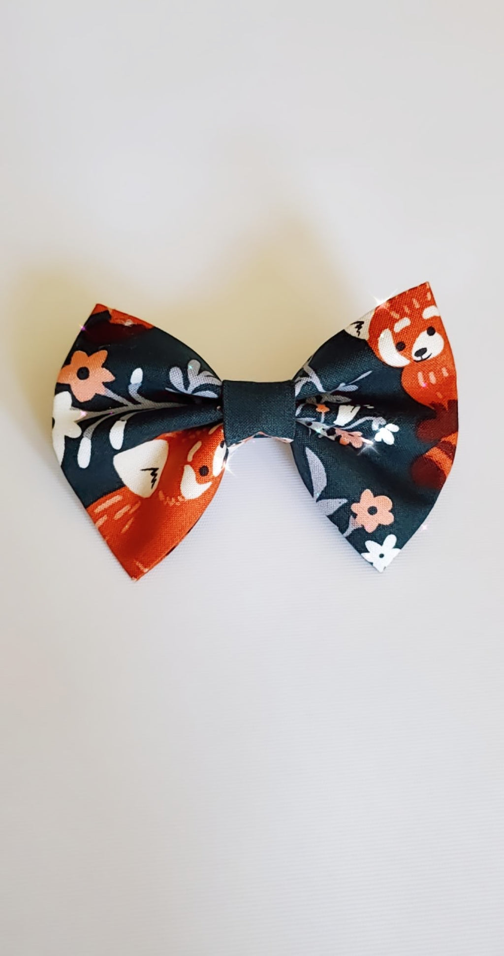 Red fox floral bow