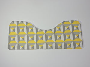 yellow and grey burp cloth