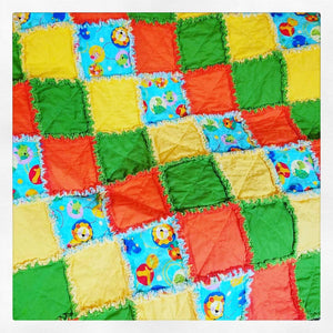 Animal friend rag quilt
