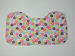Colorful floral large burp cloth