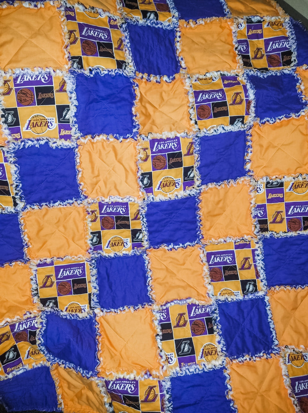 Los Angeles Lakers rag quilt