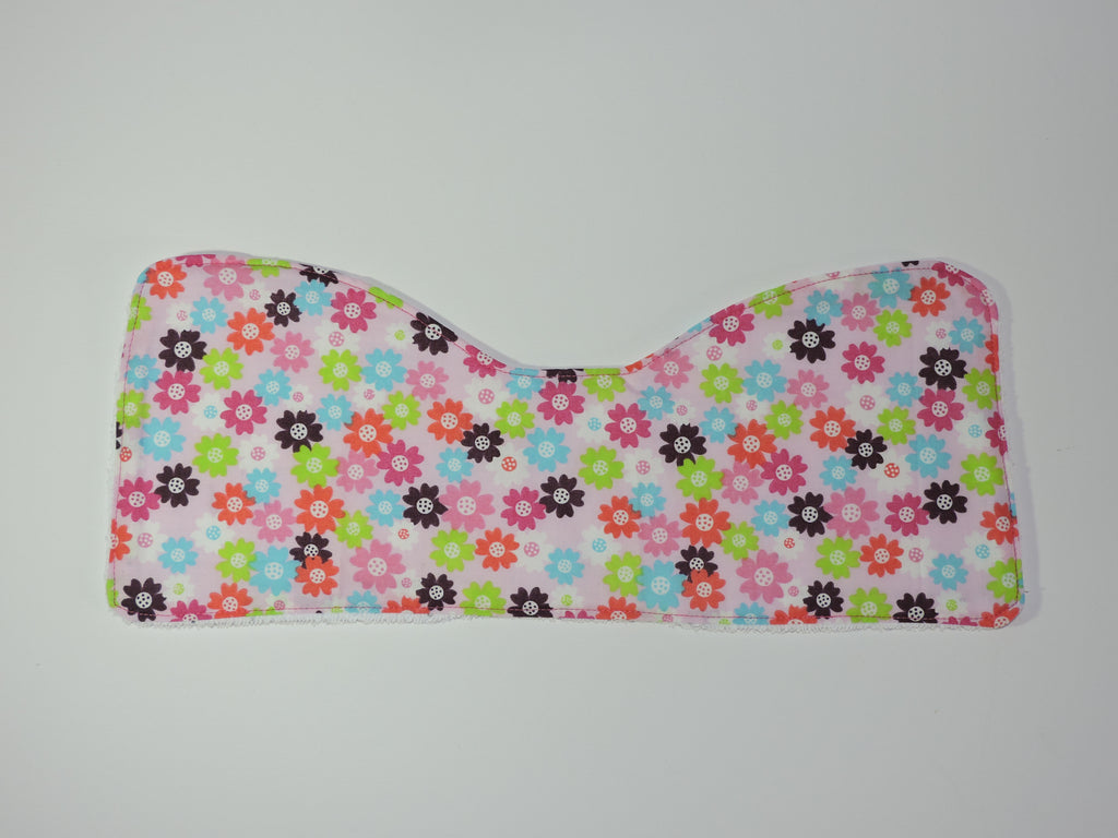 Colorful floral burp cloth