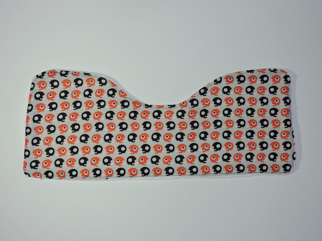 Football helmet burp cloth