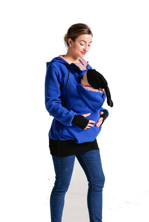 8dfe16b2fb93 2n1 Maternity Hoodie with Baby Carrier – Maternity Australia