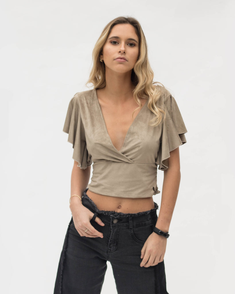 Blusa Vale taupe