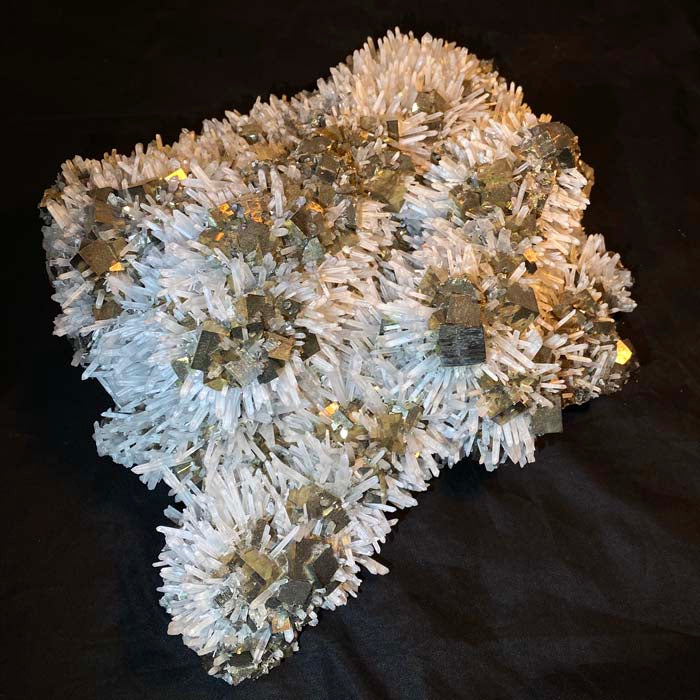 Pyrite and Quartz from Peru Museum Quality