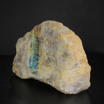 Aquamarine Crystal in Quartz from Madagascar