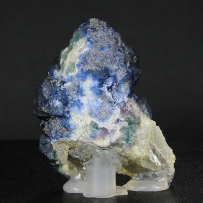 Chinese Blue Fluorite on Quartz