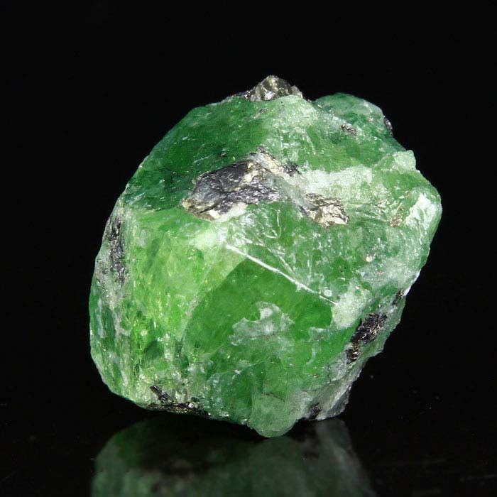 Large Tsavorite Green Garnet Crystal Raw Specimen