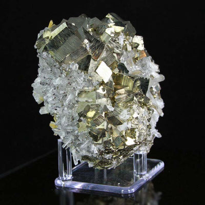 pyrite and quartz specimen
