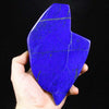 Deep blue lapis lazuli polished raw