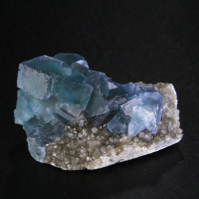 Electric Blue Fluorite & Quartz
