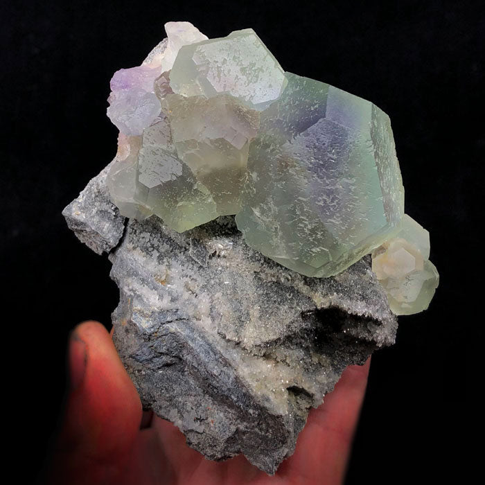 Raw Fluorite Crystal Mineral Specimen Green on Matrix