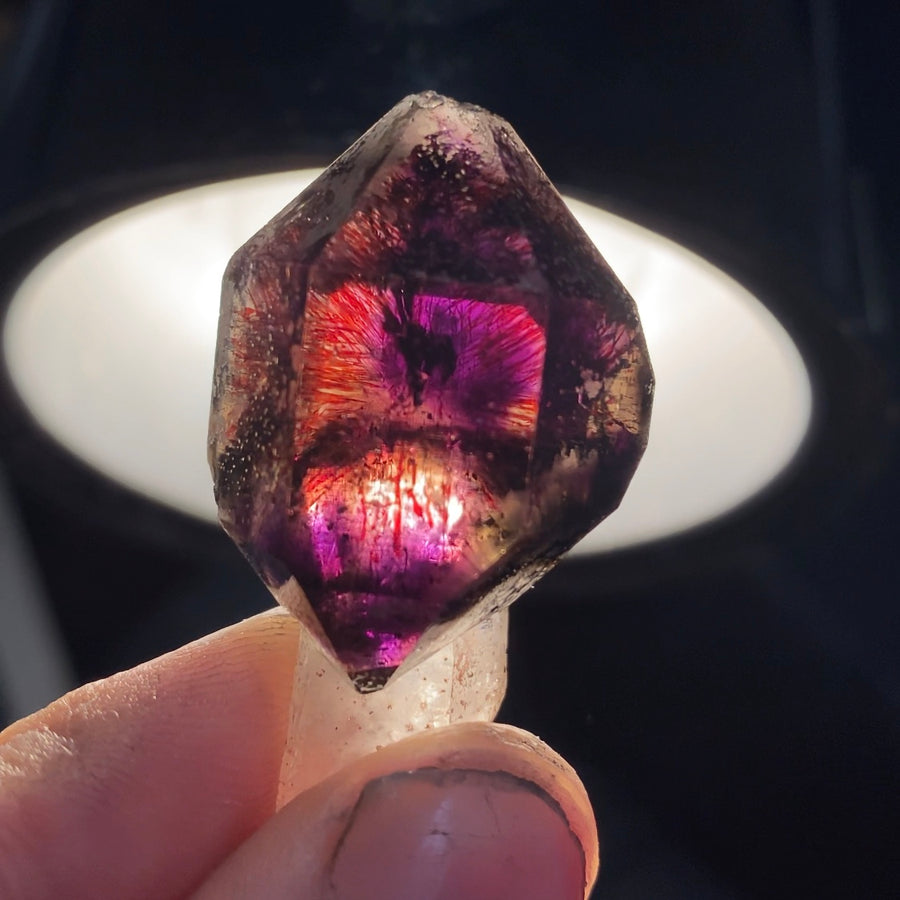 Mimoso Do Sul Amethyst Scepter with Hematite